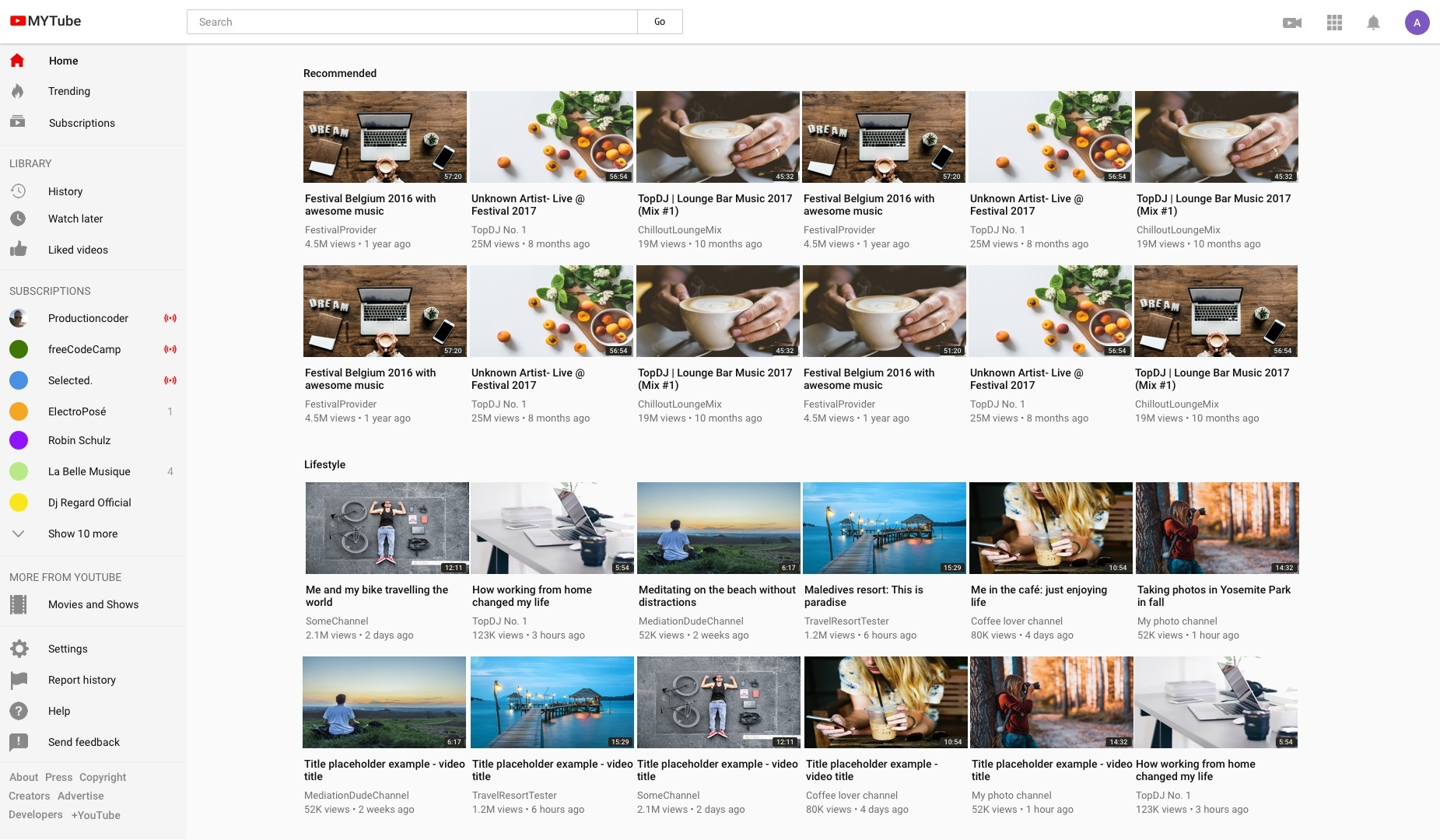 Build Youtube in React 21: exploring Youtube data API
