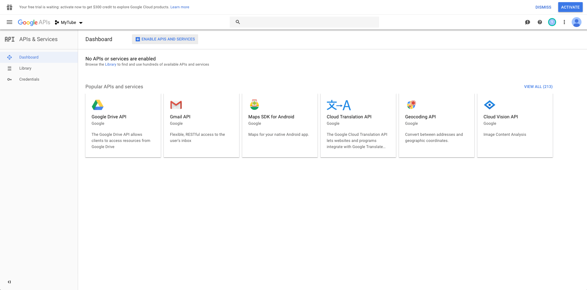 Build Youtube in React 19: getting a Youtube API key