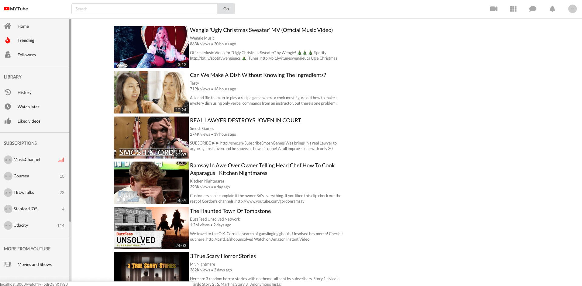 Build Youtube in React 42: infinite scroll for trending videos